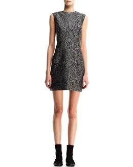 Balenciaga Astrakhan-Jacquard Sheath Dress