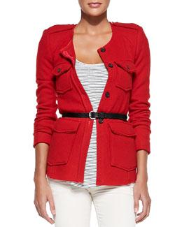 Isabel Marant Etoile Joff Buttoned Pocket Jacket