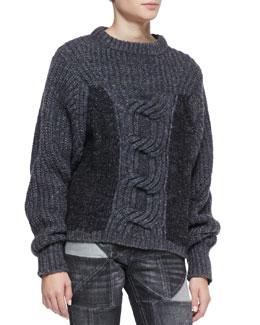 Isabel Marant Etoile Romer Two-Tone Chunky Sweater