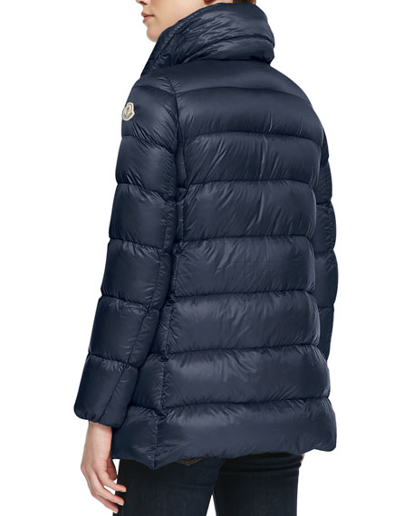 Long High-Collar Puffer Jacket