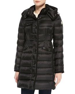 Moncler Mid-Length Taped Puffer Jacket