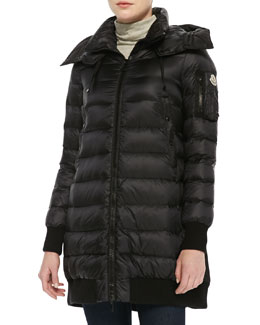 Moncler Drawstring-Back Puffer Jacket