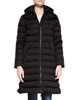Moncler Matte Mid-Thigh Puffer Coat