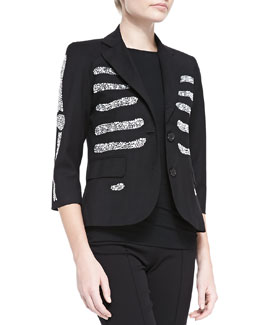 Crystal-Bones Blazer