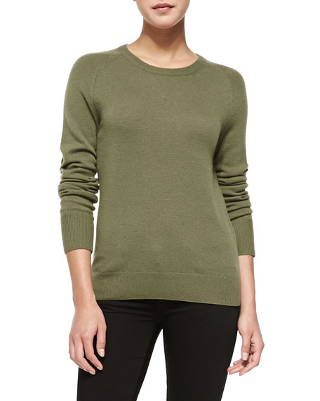 Sloane Cashmere Sweater, Green