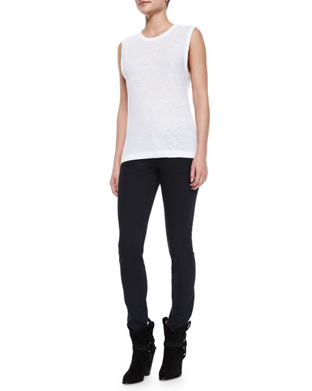 Rust Denim Skinny Jeans, Black