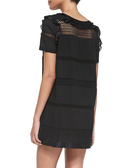 7ccdad6cc54 Isabel Marant Etoile Caleen Mesh-Inset Ruffle Dress