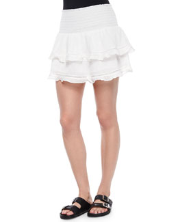 Connie Smocked Tiered Skirt