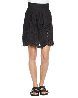 Sara Scalloped Eyelet Skirt