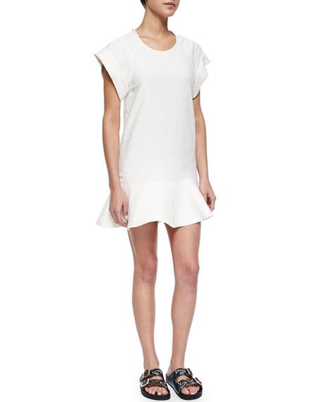 c52d85e583b9f Isabel Marant Etoile Gemma Linen-Blend Flounce Dress, White