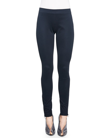 Jersey Zip-Cuff Leggings