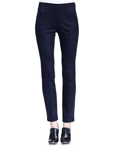 Skinny Jersey Ankle Pants, Navy