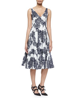 Gracie Floral-Print Tiered Fit-And-Flare Dress