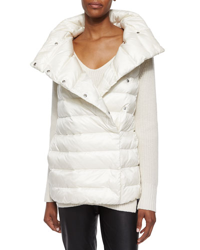 Shawl Collar Puffer Vest