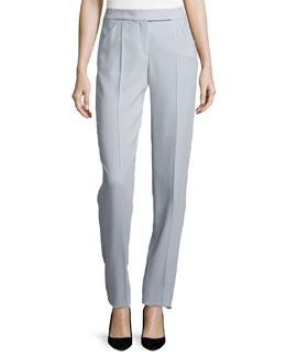 Slim-Fit Crepe Pants