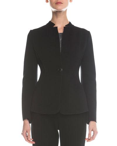 Wool-Blend Jersey Jacket
