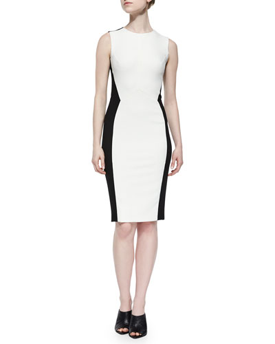 Angled Colorblock Sheath Dress