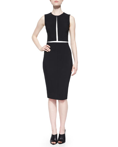 Contrast Split-Illusion Dress