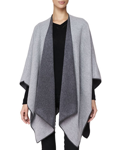Cashmere Long Wrap, Pale Gray