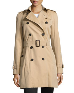 Westminster Mid-Length Classic Trenchcoat, Honey