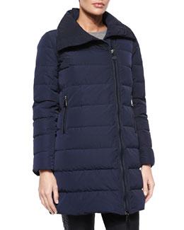 Gerboise Asymmetric-Zip Puffer Coat
