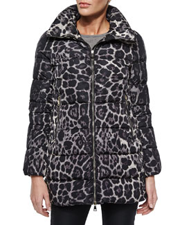 Torcelle Leopard-Print Puffer Jacket