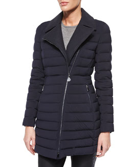 Noues Matte Quilted Asymmetric Puffer Jacket