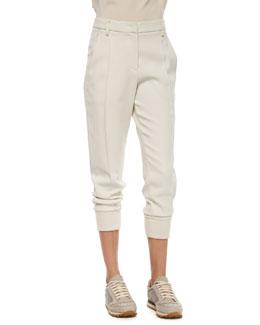 Woven Wool Jogger Pants