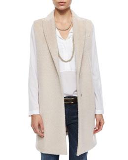 Woven Long Clean Vest