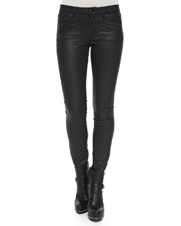 Amelie Coated Denim Skinny Pants