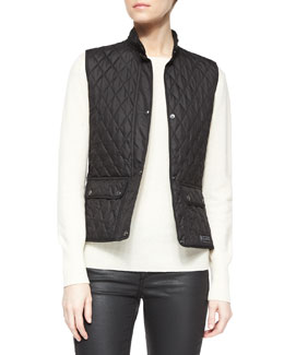 Quilted Two-Pocket Snap Vest