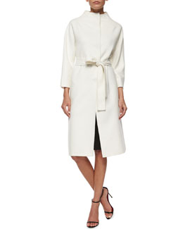 Double-Faced Belted Wrap Coat