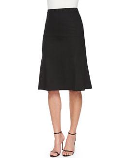 Stretch-Woven Flounce Skirt