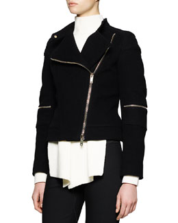 Asymmetric Zip-Detailed Jacket