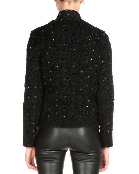 cf8969565d7 Saint Laurent Crystal Embellished Sweater, Black. Crystal Embellished  Sweater, Black. Crystal Embellished Sweater, Black