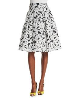 Parrot Tulip Fil Coupe Skirt, Black/White