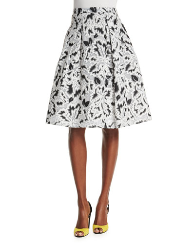 Parrot Tulip Fil Coupe Skirt, Black/White