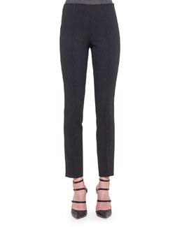 Melissa Slim-Fit Wool Pants