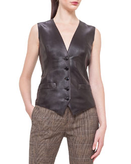 Napa Leather Gilet Vest