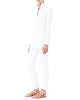Melissa Slim-Fit Techno Pants, Ivory