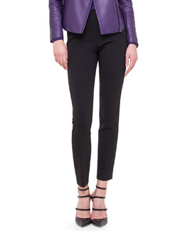 Melissa Slim-Fit Techno Pants, Black