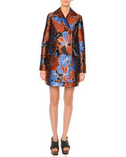 Pimpernel Blossom Jacquard Double-Breasted Coat