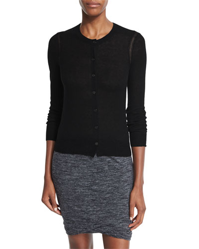 Fairlea Long-Sleeve Cardigan, Black