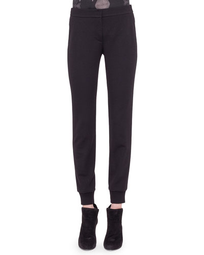 Jersey Tapered Ankle Pants