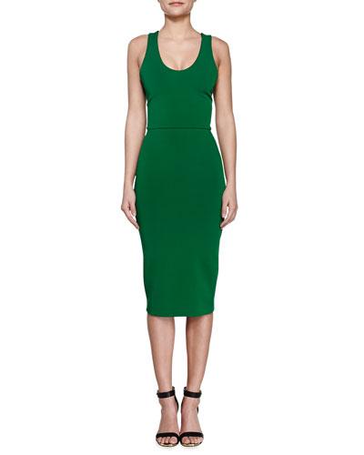 V-Back Ponte Sheath Dress