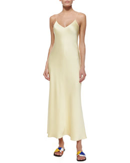 V-Neck Satin Cami Gown