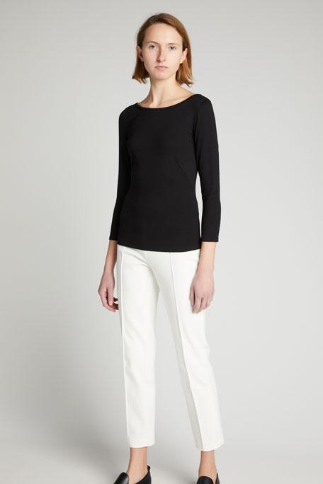 Three-Quarter-Sleeve Jersey Top