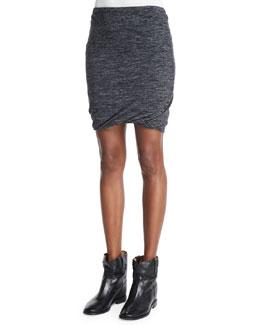Wonki Heathered Jersey Skirt, Anthracite