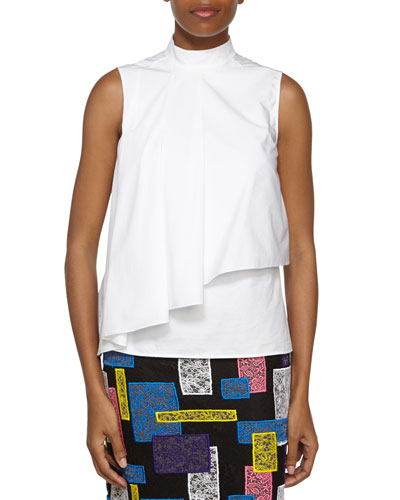 Sleeveless Layered Flounce Top