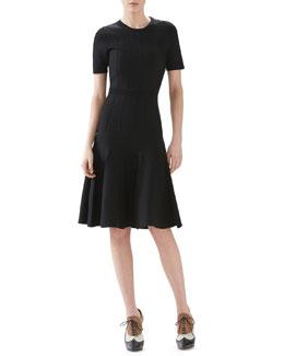 Merino Wool Knit Short Sleeve Dress